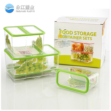 8103 large size outdoor Leak-Proof clear plastic storage container airtight and water proof container plastic crisper food boxes