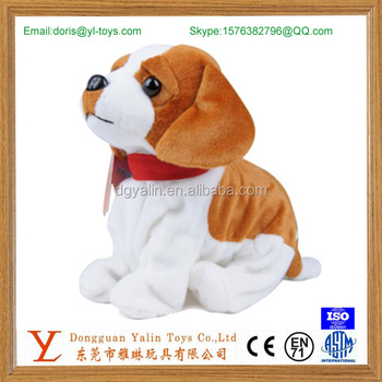 Moving electronic plush dog toy for kids