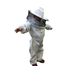 Cute with hat 100% cotton kids beekeeping suit