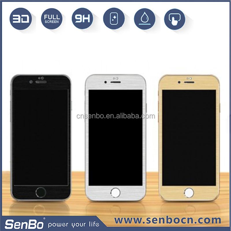 Newest factory price mobile phone 0.2mm/0.3mm wholesale tempered glass screen protector for iphone 6