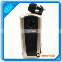 Factory Supply Wireless Bluetooth Voice Changer In Ear Earphone Headset with Color Golden