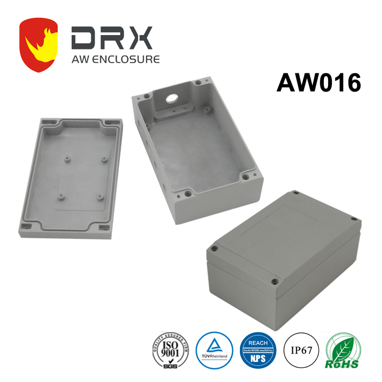 IP67 Aluminum Die Cast Enclosure outdoor Electrical Waterproof Box with Hinges