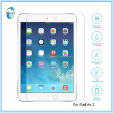 Factory Supply 9H Anti Fingerprint HD Clear Tempered Glass Screen Protector for ipad 2/3/4/Air/Air2/Mini4/Pro 9.7inch/Pro 12.9