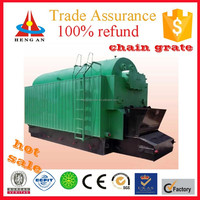 CE ISO BV certificate factory price low pressure chain grate biomass pellet water boiler for hotels
