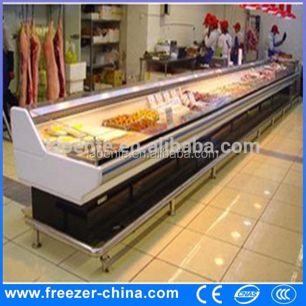 Commercial fresh meat/seafood open display cooler