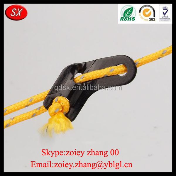 Outdoor Camping Tensioner Tent Slip Brake Adjustment Special 3 Holes Rope Buckle