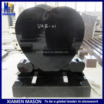 Black granite cheap blank tombstones price for sales