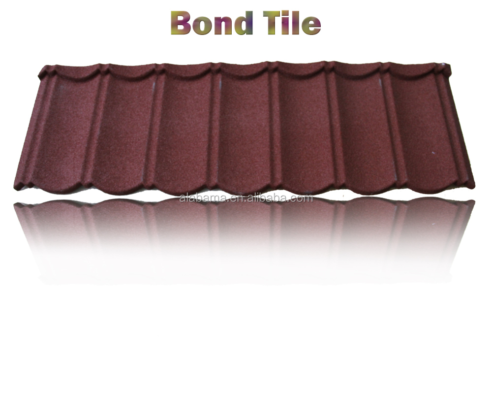 weight just 1/6 as clay tile aluminium roofing sheet, galvanized roofing sheet, sand coated metal roofing tiles