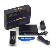 V8 Super DVB-S2 Set Top box TV satellite receiver with internet connection powervu tv receiver