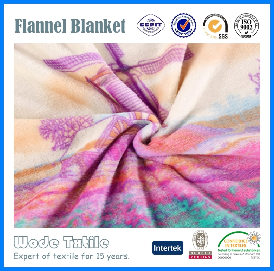 Wholesale handmade baby blanket of flannel fabric for sale