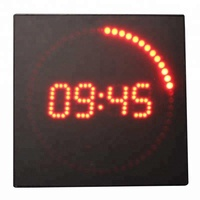 Decorative Design Digital Time Elapse Clock Each Second Adds 1 LED Dot Super Bright LED Dot LED Wall Clock