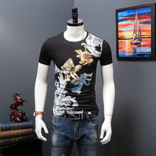 Wholesale Cheap Short Sleeve Bulk Black T Shirts Silk Screen Printing Fitness T-Shirt