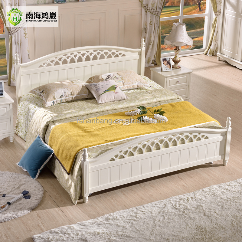 Ivory white modern design wooden mdf panel single bed for for White beds for sale
