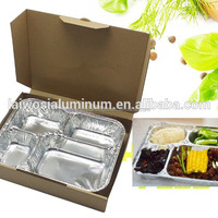 Food Packaging Aluminum Foil Takeaway Containers