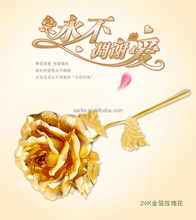 Golden rose 24k With Gift Box Artificial Flower Factory Direct Hot selling item