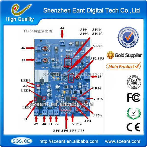 new arrival latest tech DSP board,8.2mhz rf main board, eas main board