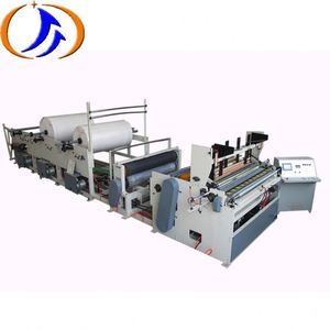 Cutter And Automatic Electrical Motor Rewinding Small Scale Toilet Making Roll Slitting Paper Perforating Machine
