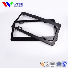 Custom promotional carbon fiber license plate frame with low price