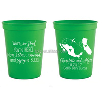 Custom Imprinted plastic stadium cup with assorted color