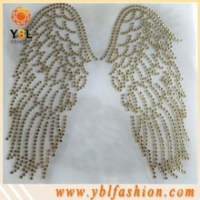 Korean Rhinestone Angel Wings Transfers Iron On for Clothes