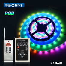led strip DC12V 6803 RF Remote controller 133 Change Digital Dream Magic Color Chasing 6803 ic 5050 RGB Colorful LED Strip