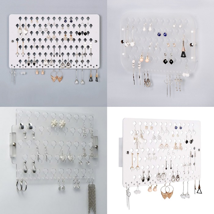 Acrylic wall jewelry stand for small living accessories