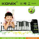 konix 88 Keys Roll up Electronic Piano Keyboard Flexible Roll up Electronic Keyboard Piano