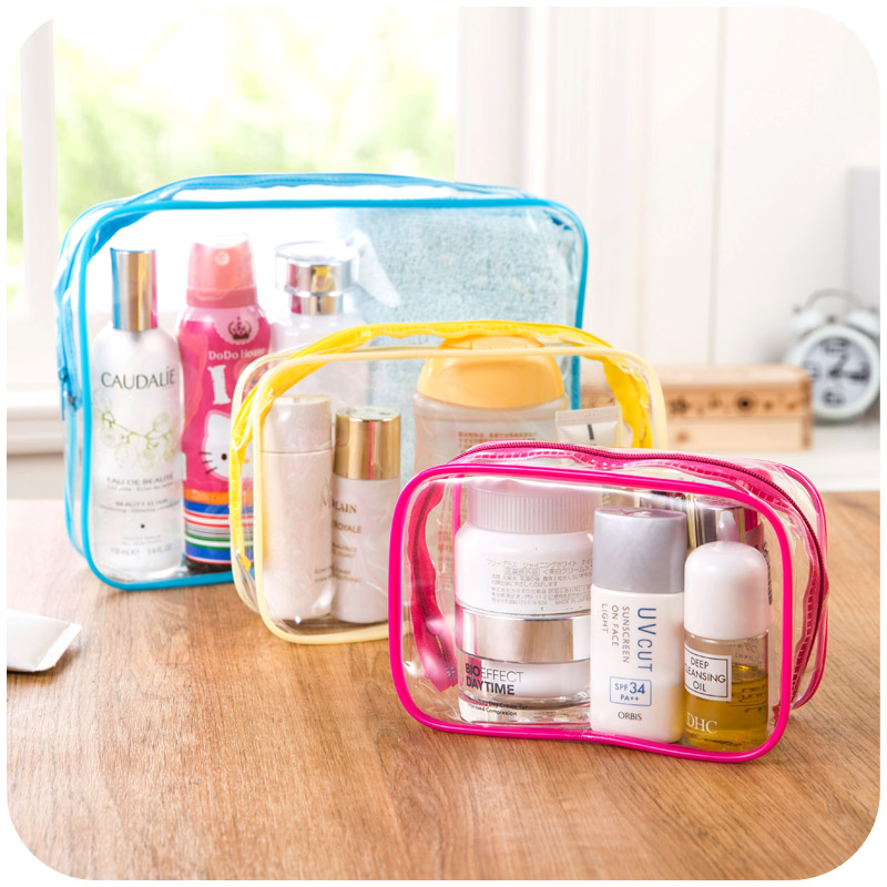 pvc zip bag plastic tote bag clear cosmetic bag