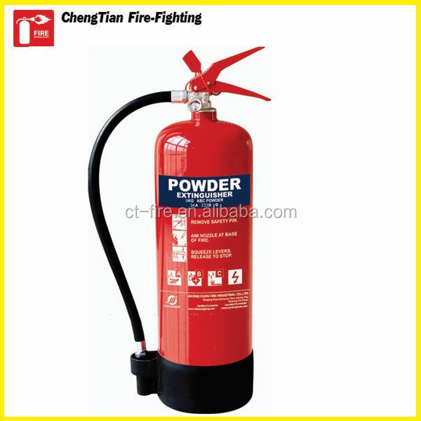 Red valve and black valve dry power fire extinguisher