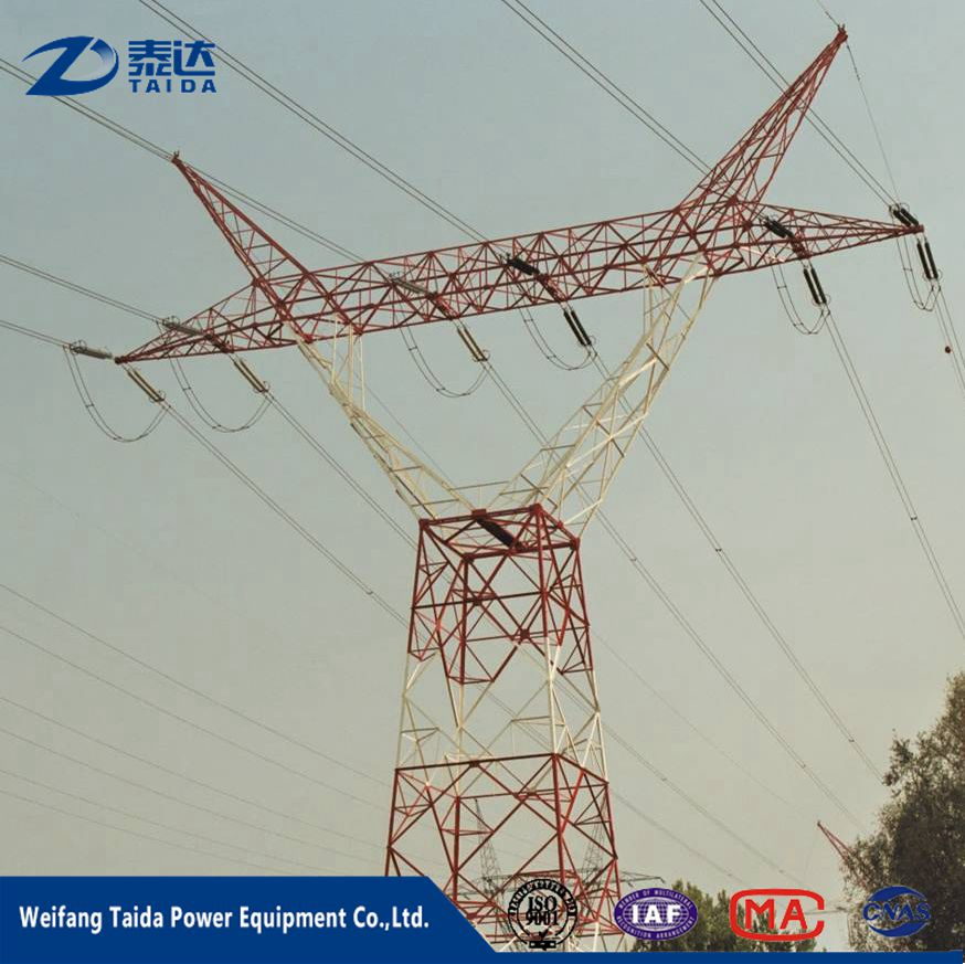 Electrical Equipment & Supplies Galvanized Power Transmission Tower 132Kv