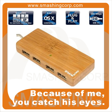 Rectangle Bamboo USB Hub Stylish USB Hub USB Charging Hub