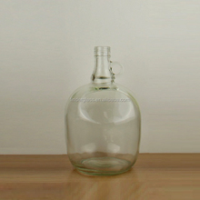 1 Gallon Round Clear Glass Jug