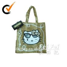 Hello Kitty purse shaped foldable polyester bag