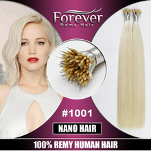 Wholesale professional christmas premium remy human russian nano ring hair extension