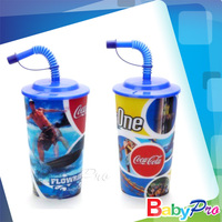 2014 Hot Sale Plastic Water Cup With Straw