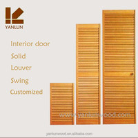 solid pine wood kitchen louver doors and wardrobe bi-folding louver closet sliding doors