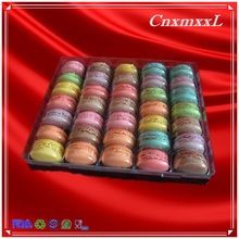 35 tray with clear PET and black PS packaging box type macaron plastic insert