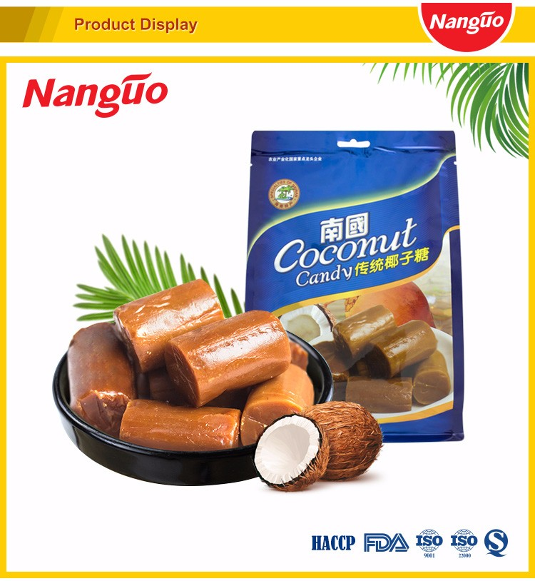 NANGUO CLASSIC COCONUT CANDY sweet coconut flavored hard Boiled candy