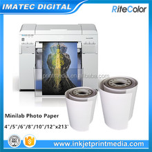 OEM 190gsm one side glossy printing photo paper for minilab plotter