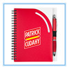 plastic/pp cover spiral notebook/cheap custom spiral exercise notebook with pen