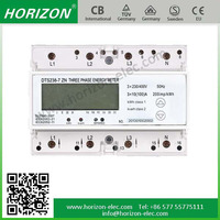 DTS238-7 ZN 7 Module three phase din rail 3 phase 4 wire energy meter connection 7P
