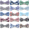 Cotton Checkered Children Kid Boy Toddler Baby Child Pre Tied Neck Bow Tie