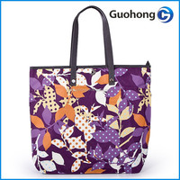 Super quality fashion canvas shopping bag with metal button