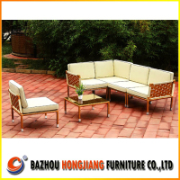 Garden furniture corner sofa set outdoor L-shape sofa
