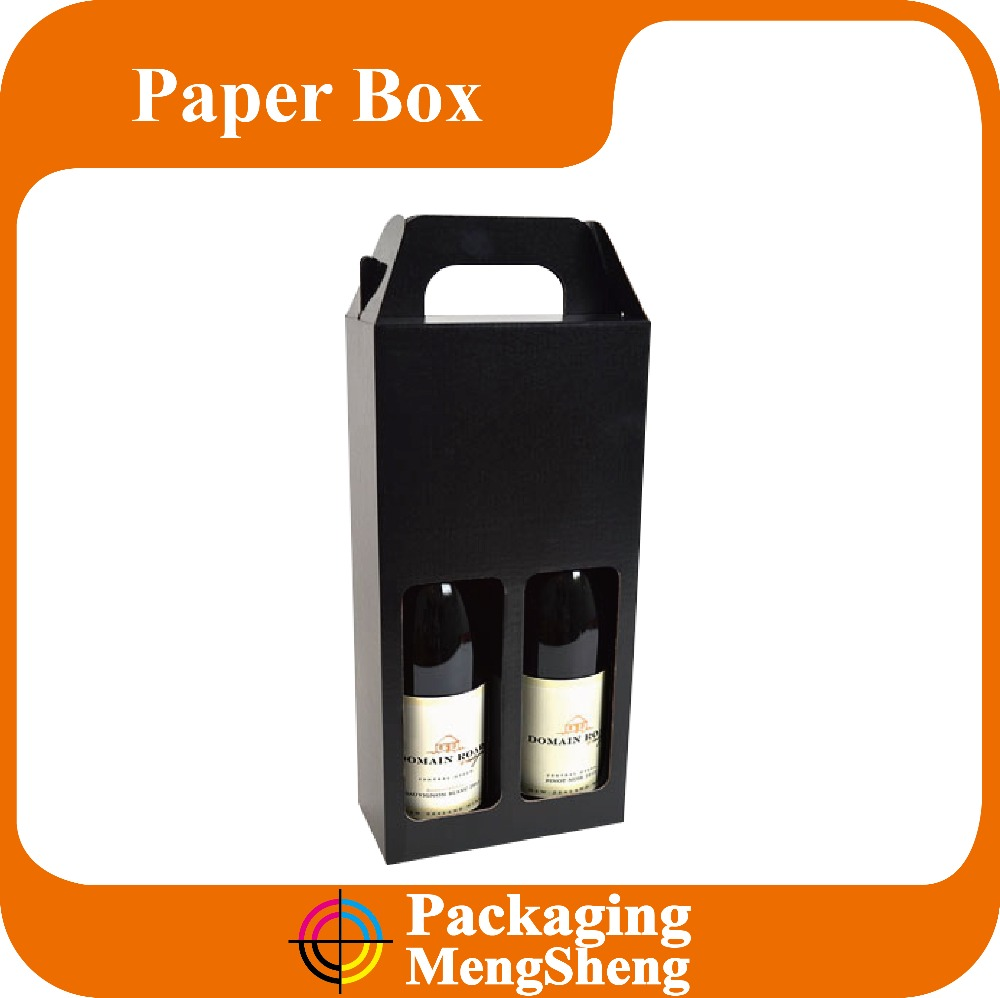 Best Gift Drink Carrier/Natural Cardboard Wine Bottle Box