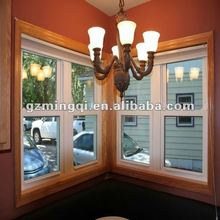 pvc double hung push up window