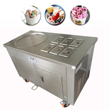 Commercial thailand single cold plate 6 bins fried fry soft ice crean roll making machine price for sale
