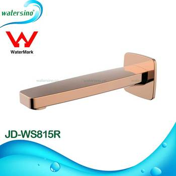 Watermark bathroom wall mounted gold plated bath shower faucet spout