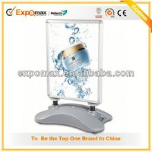 floor standing acrylic poster/sign display stand/Public Places Information Sign stand