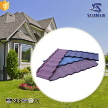 Factory direct sale high quality natural stone chip coated metal roof tiles with Long Service Life